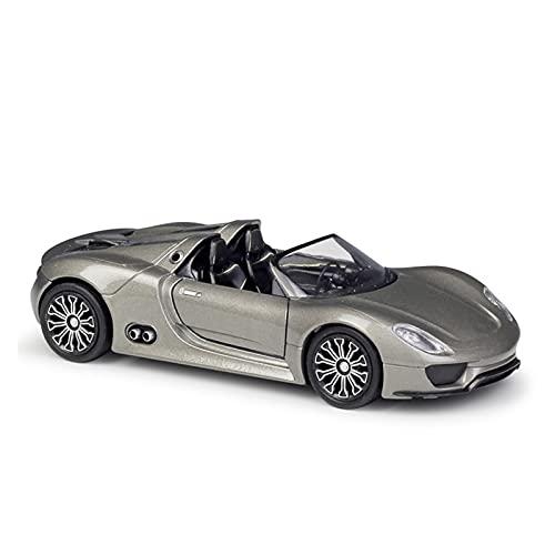 1:36 para Porsc-he para 918 Spyder Concept Modelo De Aleación De Coches Modelo De Metal Vehículos con Caja Regalo Coleccionable para Niños Vehículo Diecast