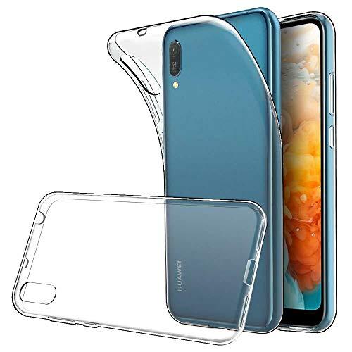 REY - Funda Carcasa Gel Transparente para Huawei Y6 Pro 2019 / Y6 2019, Ultra Fina 0,33mm, Silicona TPU de Alta Resistencia y Flexibilidad