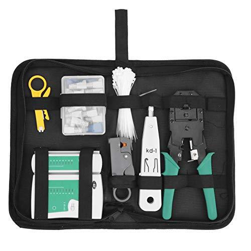 Herramienta de cableado de red, kit de herramientas de crimpado de detección de cables, para mantenimiento de red de batería de 9 V, cableado de red de bricolaje