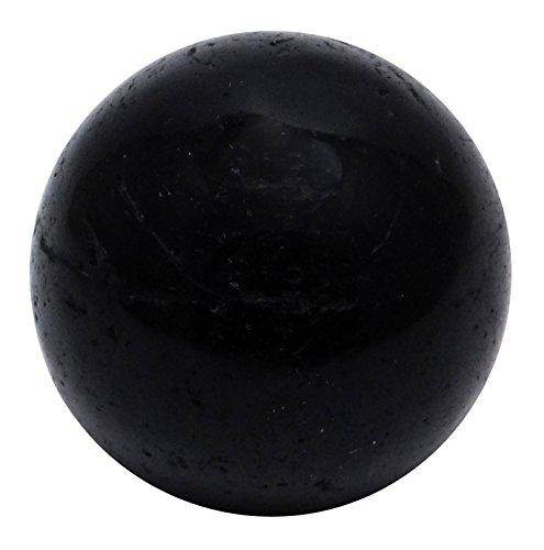 HARMONIZE Nuummite Stone Sphere Ball Reiki Healing Stone Balancing Art Table Décor
