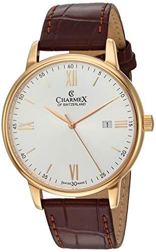 Charmex Amalfi - Orologio da uomo di lusso, con vetro zaffiro, 42 mm,...