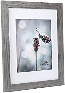 Scholartree Wooden Grey 11x14 Picture Frame 2 Set in 1 Pack or 11x14 Frame or 8x10 Photo Frame