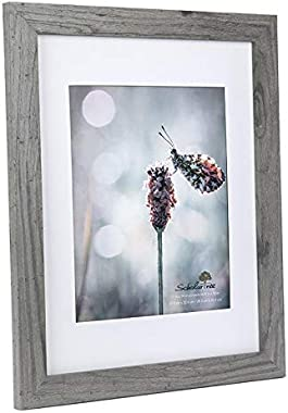 Scholartree Wooden Grey 11x14 Picture Frame 2 Set in 1 Pack or 11x14 Frame