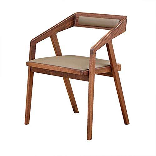 SPRINGHUA Sillas de comedor, cocina, sillas de comedor, sillas de madera, para el hogar, cocina, comedor, asiento acolchado (color, tamaño: 52 x 43 x 75 cm)