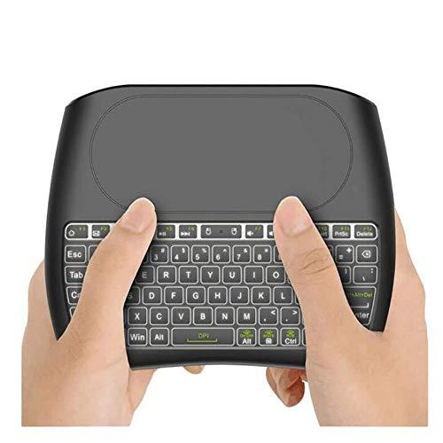 79 Keys 2,4 GHz Wireless-Mini-Tastatur, USB aufladbare mit großem Touch Screen, Geeignet für Smart TV Laptop PC Internet Box