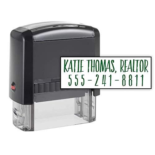 Custom Address Stamp - 2 Line Address Stamp - 20 Font Options - Self-Inking Address Stamp (2 Line Stamp)