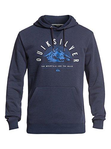 Quiksilver Big Logo - Funktioneller Hoodie für Männer EQYFT03789, Dress Blues, M