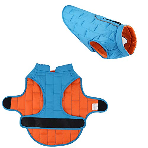 LEMONPET Reversible Reflective Waterproof Dog Jacket Coat for Small Medium...