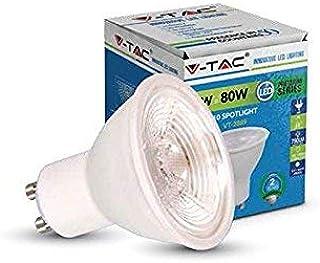 LAMPADINA V-TAC A RISPARMIO ENERGETICO FARETTO LED 5 W LUCE CALDA GU10 110 GRADI