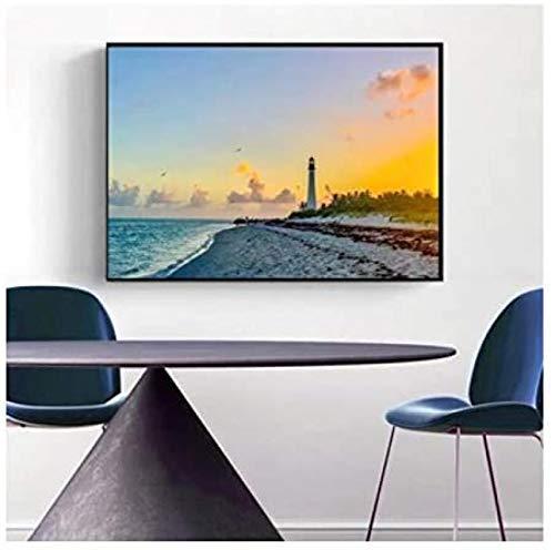 W15Y8 Hermoso Paisaje Cartel The Key Tropical Sea Print Home Decor Wall Art Decor 20X28 Pulgadas 1 Uds Sin Marco