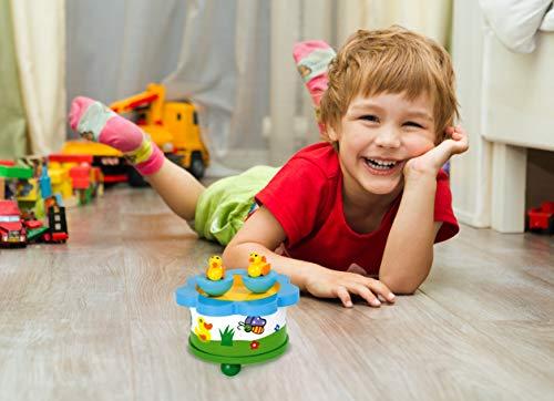 """Spieluhr """"Ententanz"""" aus Holz, Musikinstrument mit abnehmbaren Magnet-Figuren, tanzende Entchen und eine schöne Melodie verzaubern Babys und Kinder - 3"""
