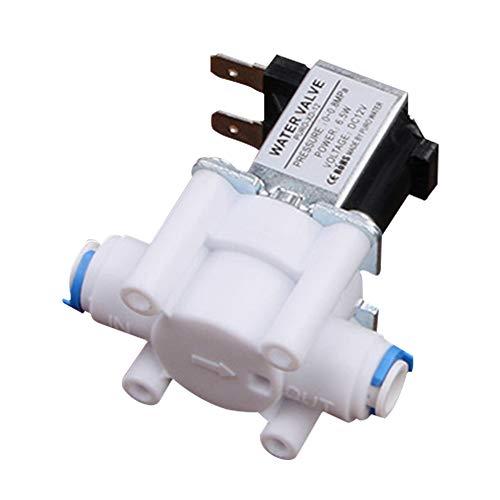 1/4 Zoll Einlassspeisewassermagnetventil, 12V/24V Magnetisch Elektrisch Magnetventil für Wasser Normal Geschlossen Schnell Conntection - Wie Bild Show