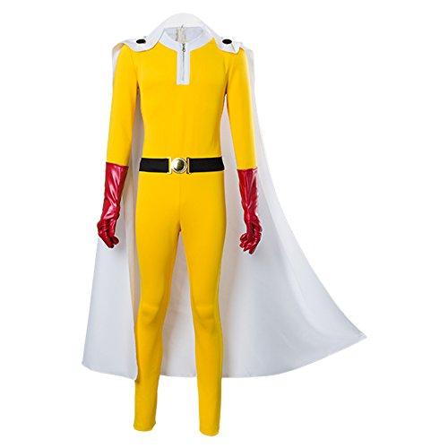 Tianxinshop Anime One Punch Man Saitama Cosplay Kostüm Halloween Kostüm Anzug für Herren Komplettset
