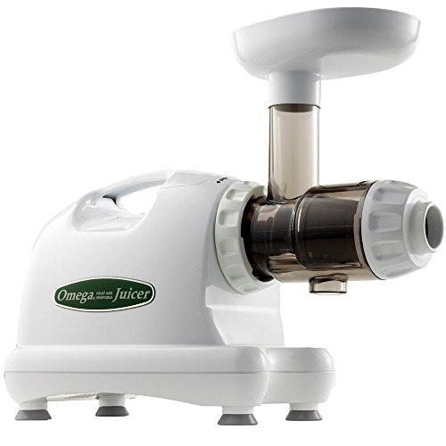 Omega J8004 White Masticating Juice Extractor - 120V
