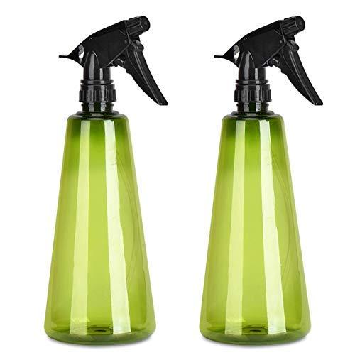 Queta Botellas de Spray Vacías Plástico, 2pcs Pulverizador Agua de Gatillo con 2 Modos, Bote Spray Pulverizador para Alcohol, Limpieza, Jardinería(750ml)