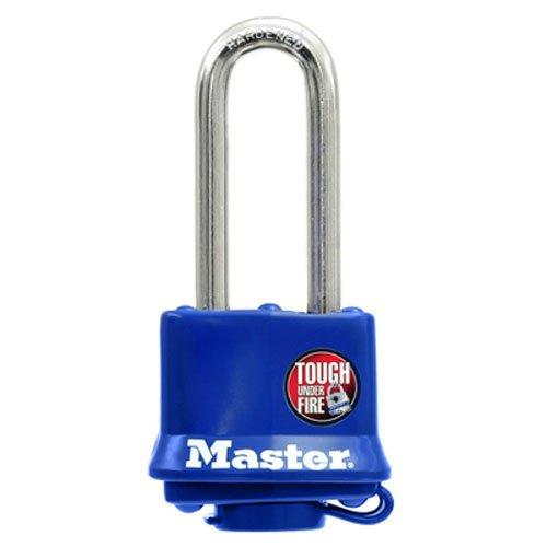 Master Lock 312DLH Laminated Steel Pin Tumbler Padlock, Blue by Master Lock