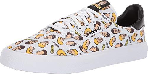 adidas x Beavis and Butthead 3MC (White/Black/White) Men's Skate Shoes-9