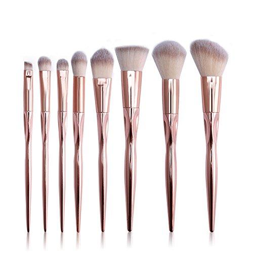 MEIYY Pinceau de maquillage Make Up 8Pcs Makeup Brush Foundation Eyebrow Eyeliner Blush Angle Contour Powder Brushes Professional