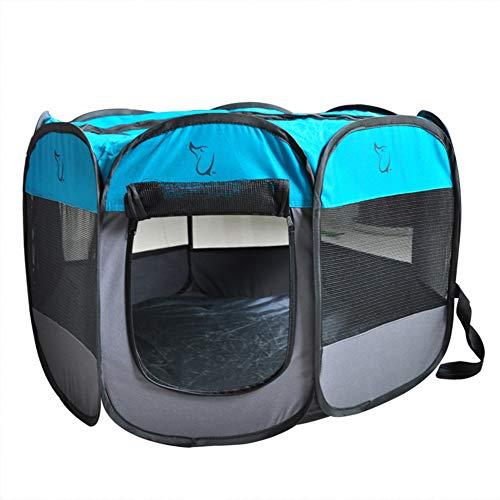 XDYFF Animal de compañía portátiles Plegables Playpen Tienda de campaña al Aire Libre del Animal doméstico de la Jaula Octagonal Octagonal Plegable del Animal doméstico del paño de Oxford