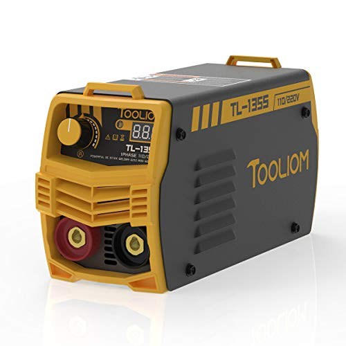 TOOLIOM 135A 110V/220V Stick Welder MMA ARC Welder Machine DC Inverter Welder with Digital Display Portable Welding Machine
