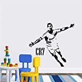 Fútbol Deportes Fútbol Super Star Player Cristiano Ronaldo CR7 Celebrate Goal Etiqueta de la pared Etiqueta engomada del coche Calcomanía de vinilo Boy Fans Dormitorio Sala de estar Club Dec