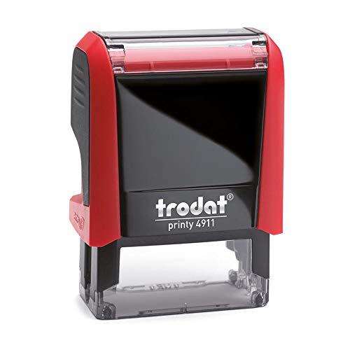 Preisvergleich Produktbild Stempel Trodat Printy 4911 custom (37x14 mm - 4 Zeilen) mit individueller Textplatte Farbe Rot