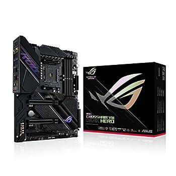ASUS ROG Crosshair VIII Dark Hero AMD AM4 X570S Zen 3 Ryzen 5000 & 3rd Gen Ryzen ATX Gaming Motherboard  PCIe 4.0 14+2 Ti Power Stages PCH Heatsink Wi-Fi 6 2.5 Gbps LAN USB 3.2 Gen 2 Type-C
