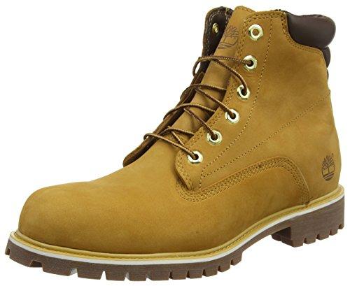 Timberland Herren 6 Inch Basic Alburn Waterproof Stiefel, Gelb (Wheat Nubuck), 45 EU