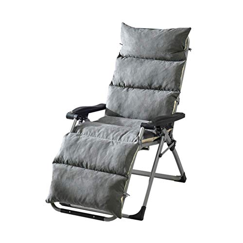 KEOA Sun Lounger Cushion Replacement Suede Garden Cushion Seat Rocking Chair pad High Back Chair pad Chaise Lounger Cushion Universal cushions-50x155cm(20x61inch) Gray