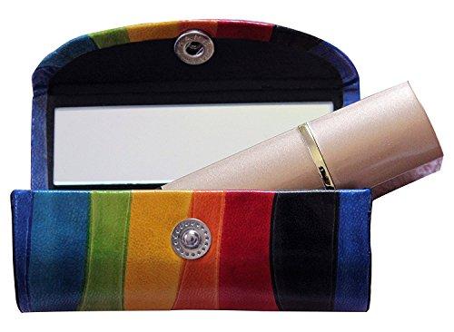 StoreKing Lippenstift-Etui aus Leder – Organizer Tasche für Geldbörse – Lippenstifthalter – strapazierfähiges weiches Leder – Kosmetik Aufbewahrungsset mit Spiegel