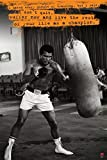 Pyramid America Muhammad Ali Punchbag Dont Quit Quote Boxing Sports Cool Wall Decor Art Print Poster 24x36