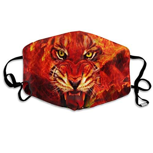 Mascarilla de boca de tigre ajustable, antipolvo, lavable, reutilizabl