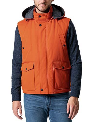 Walbusch Herren Thermore Outdoor Weste einfarbig Orange 52