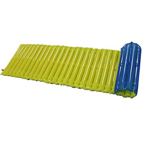 Shoplice Colchón Inflable de plástico al Aire Libre colchón Inflable cojín sofá Estera Camping Senderismo Playa Emergencia(Azul)