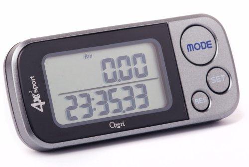 Ozeri 4x3sport Tri-Mode Activity Tracker (Walk, loop, trapstijg), met multi-ass-detectie en 30 dagen geheugen