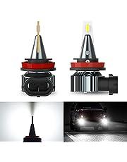 AUXITO LEDフォグランプ H8 H11 H16 H9兼用 イエロー3000k ハイエンドCSPチップ搭載 ledフォグ 12V 対応可 新基準車検対応 アルミ合金 キャンセラー内蔵 車用 ledバルブ 遠距離照射 一体型 ポン付け 純正交換 加工不要 無極性 省電力 2個セット 2年保証…