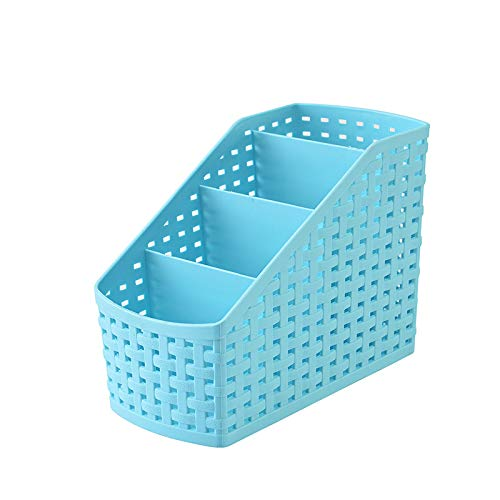 GUOJIAYI Imitation Rattan Multi compartment Storage Box Cosmetics Desktop Remote Control Debris Classification Plastic Box Organizer1PC (random colors shipped)
