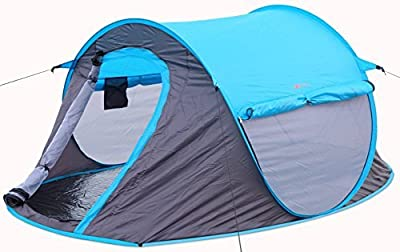2 person Pop Up Tent - Opens Instantly in Seconds and is Perfect for Backpacking, Camping or any Other Outdoor Activity. Portable and Comfortable Fits Two Persons with Quick and Easy Setup