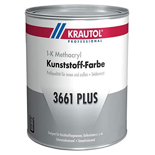Krautol Kunststoff-Farbe 3661 Plus, RAL 7030 steingrau, 1K Beschichtung für Wand und Boden, 750 ml