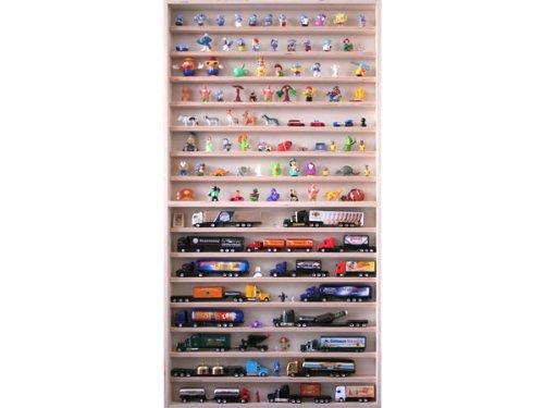 Sammlervitrine 60 cm x 115 cm x 6 cm Regal Hängevitrine für Figuren und Modellautos von Alsino V57