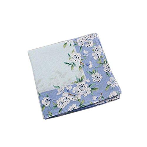 Black Temptation Pañuelos de las señoras suaves flores pañuelo de bolsillo para las mujeres, 05