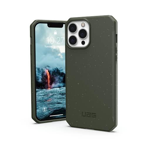Urban Armor Gear Outback Bio Custodia compatibile con Apple iPhone 13 Pro Max [Materiali biodegradabili, Compatibile con la ricarica wireless, Resistente alle cadute, Ultra sottile] verde oliva