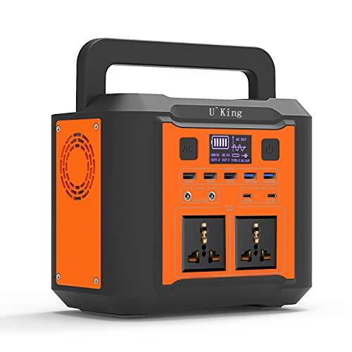UKing Power Station Tragbarer Generator 300Wh/80000mAh Solar Stromversorgung mit AC / DC-Wechselrichter, aufladbar über Solarpanel / Steckdose für Notstromversorgung von Outdor Camping Travel