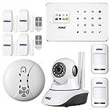 KERUI - Kit Sistema de Alarma GSM/SMS Control de marcado...
