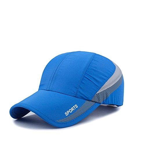 Befur Gorra de béisbol de secado rápido Deportes Running Hat Transpirable Soft Brim Outdoor Sun Protective Unisex Ajustable Azul