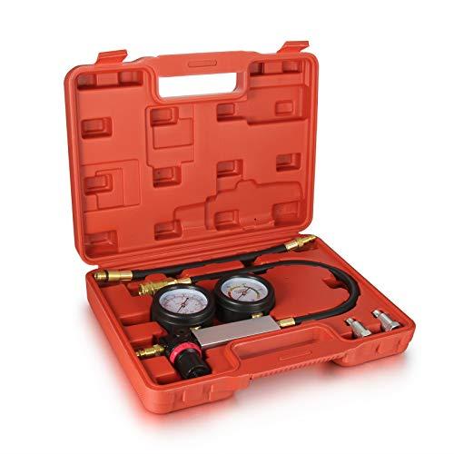 RICH CAR Kompressionsdrucktester Kompressionsdruck Prüfer für Benzin-Motoren mit Zündkerzengewinde M12x1,25 und M14x1,5