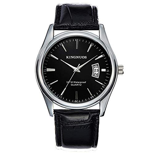 ZSDGY Reloj de Acero con Calendario Individual para Hombre, Reloj de Cuarzo Elegante de Cuarzo Romano A