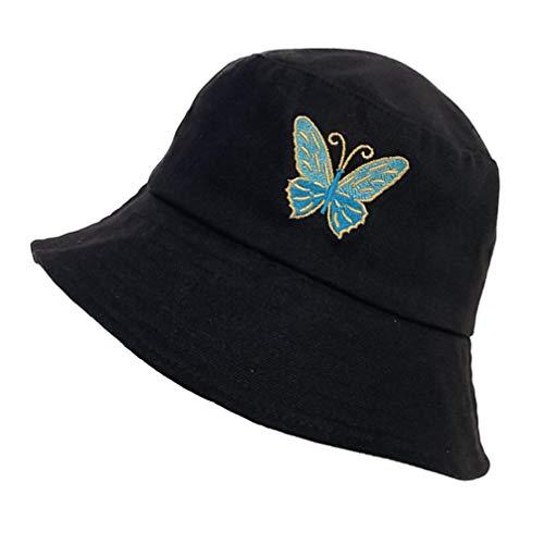 LUOEM Sombrero de Cubo de Mariposa Sombrero de Pescador Resistente Al Sol...