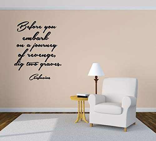 Wall Vinyl Sticker Before You Embark On A Journey Of Revenge Dig Two Graves Quote Phrase Car Mural Decal Art Decor Lp2937 Handmade