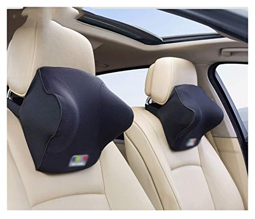 QSWL Coche Cojin con Memoria, Almohada Cuello Coche para La Conducción, Almohada Coche para El Asiento De Coche, Almohada Cervical Coche (Color : Light Blue, Size : Headrest 30X20X13CM)
